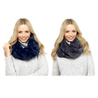 Ladies Snood Winter Accessory Chunky Faux fur Knit Warm