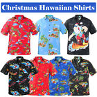 New Mens Christmas True Face Hawaiian Print Polyester Shirt Beach Holiday Top