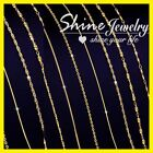 9k Yellow Rose White Gold Gf 1mm Snake Curb Link Necklace Men Lady Chain 16- 24""