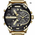 Men's Fashion Luxury Watch Stainless Steel Sport Analog Quartz Wristwatches jzus