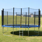 New Trampoline with Safety Pad & Enclosure Net & Ladder All-in-One Combo Set