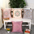 Fashion Europe Style Silk Pillowcase Embroidered Pattern Cushion Case 45cm*45cm
