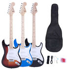 ZTDM 3 Colors Beginner Student Right Handed Electric Guitar Set