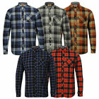 Mens Shirt Tokyo Laundry Tartan Check Flannel Top Collared Long Sleeved Casual