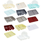 Dish Drainer With Drip Tray Plate Rack High Grade Plastic Cutlery Holder Kitchen