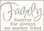 Family Love Life Quote Stencil Vintage Shabby Chic  Furniture  Fabric Crafts QU2