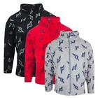Boys Lightning Bolt Print Zip Through Fleece Winter Jacket Top 3 to 8 Years