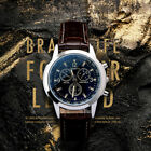 Fashion Men's Date Leather Stainless Steel Military Sport Quartz Wrist Watch image