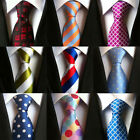 Mens Ties JACQUARD WOVEN Necktie Classic 100% Silk Fashion Business Tie Wedding