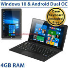 "10.1"" Dual OS CHUWI HI10 4GB/64GB Windows 10 Tablet PC FullHD Laptop w/ Keyboard"