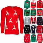 Ladies Womens Christmas Xmas Chunky Knitted Reindeer Crew Neck Pullover Jumper