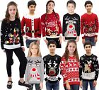 Boys Girls Unisex Kids Ladies Men Novelty Retro Knitted Christmas 3D Jumper Xmas
