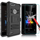 For ZTE Blade Z Max Z982 Shockproof Case With Kickstand Clip + Screen Protector