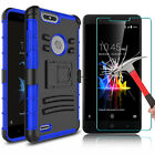 For ZTE Blade Z Max Z982 Shockproof Case With Kickstand Clip / Screen Protector