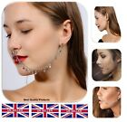 GOLD SILVER TONE EAR TO NOSE TASSEL LINK NOSE CHAIN UK SELLER (Style 107)