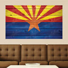 Arizona Vexillum warn Distressed Wood Vinyl Wall Decal Sticker Graphic Art - 4 Sizes
