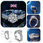 6 claw platinum engagement ring jewelry round neck suit card lady (Style 114)