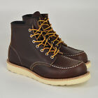Red Wing Shoes 8138, Moc Toe Boots, Briar Oil Slick, Dunkelbraun, Leder, Neu