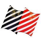 Color Stripe Pattern Pillow Box Gift Packaging with Thank You Seal Stickers x6