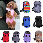 Pet Puppy Dog Cat Backpack Carrier Front Net Bag Tote Sling Carrier Nylon Mesh