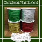 Metallic Round Elastic Stretch Cord 2mm….. Christmas colours …Various sizes avai