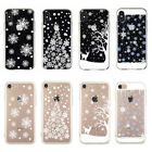 Soft TPU Silicone Cute Xmas Christmas Back Case Cover For iPhone 6 6s 7 8 Plus X