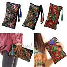 Vintage Style Embroidered Bag Ethnic Embroidery Wallet Purse Coin Cutch Handbag