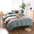 Striped Microfiber Duvet Cover Sets Bedding Pillowcase Twin/Full/Queen/King Size