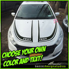 Hood Racing Stripes Blackout Graphics 4 - Fits 2013-2016 Dodge Dart $69.99 USD on eBay