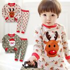 "VaenaitBaby Toddler Girls Boys Clothes Sleepwear Set ""Cookie Christmas"" 12M-7T"
