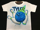 Airbrush Bowling Ball & Pins Personalized with Name Airbrushed Shirt