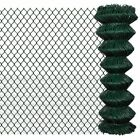 Vidaxl Chain Link Mesh Fence Garden Net Galvanised Steel Pvc Coated Multi Sizes