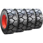 Set of Carlisle 10x16.5 Ultra Guard LVT Skid Steer Tires and Wheels - Bobcat
