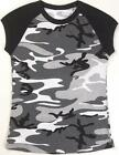 City Camouflage - Womens Military Raglan T-Shirt