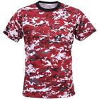 Digital Red Camouflage - Military T-Shirt