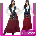 Womens Deluxe Pirate Buccaneer Beauty Costume Caribbean Wench Swashbuckler Lady