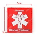 Rescuer Gear Medical Treatment 3D Tactical Army PVC Rubber Klettband Patch
