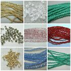 Czech Fire Polish Glass 2mm Round Beads Pink-Blue-Green-Clear-Red-White-Bronze