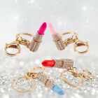 Fashion Crystal Lipstick Pendant Keyring Car Keychain Girl Handbag Accessory WCC