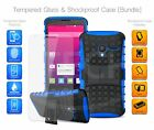 For Huawei Honor Holly 3 - Shockproof Builder Tough Case & Glass Protector