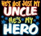 Uncle is my hero kid TShirt robber baby shower birthday gift US size z xmas
