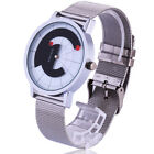 New Fashion Steel Mesh Band Bracelet Special Turntable Wrist Watch Gift for Men
