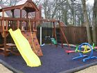 Playground Rubber Chippings Kit - Membrane, pegs and rubber chippings 500 kilos