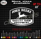 John Deere Quality Farm Equipment Decal Sticker many colors and sizes skid steer