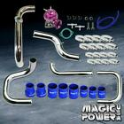 Chrome Intercooler Piping  + Purple RS BOV  + Blue Coupler Kit for 1992-1995 Civic