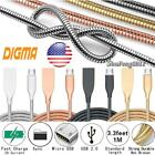 Heavy Duty Metal 1M Micro USB Data Sync Charger Cable For Digma Citi Z400 3G