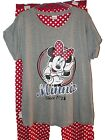 NEW LADIES OFFICIAL MINNIE MOUSE 1928 RED  SPOTTED LONG PYJAMAS PJ's ~ SZ 20/22