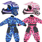 Wulfsport Flite Kids Motocross MX Helmet LEOPARD Gloves Goggles ATV Dirt Bike