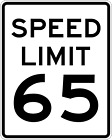 ***SPEED LIMIT 65 MPH VINLY DECAL STICKER MULTIPLE SIZES TO CHOOSE FROM***