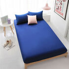 Pure Cotton Fitted Sheet Bed Covers Pillowcase Twin/Full/Queen/King Solid Colors